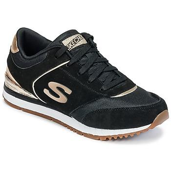 Topánky Ženy Nízke tenisky Skechers SUNLITE Čierna / Zlatá