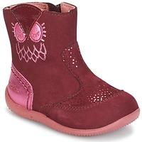 Topánky Dievčatá Polokozačky Kickers BRETZELLE Ružová