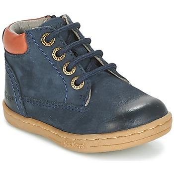 Topánky Chlapci Polokozačky Kickers TACKLAND Námornícka modrá