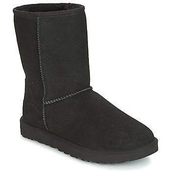 Topánky Ženy Polokozačky UGG CLASSIC SHORT II Čierna