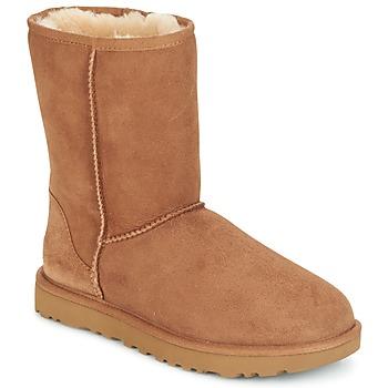 Topánky Ženy Polokozačky UGG CLASSIC SHORT II Ťavia hnedá