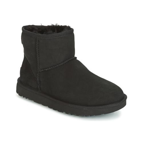 Topánky Ženy Polokozačky UGG CLASSIC MINI II Čierna