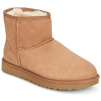 Topánky Ženy Polokozačky UGG CLASSIC MINI II Ťavia hnedá