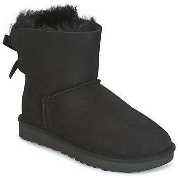 Topánky Ženy Polokozačky UGG MINI BAILEY BOW II Čierna
