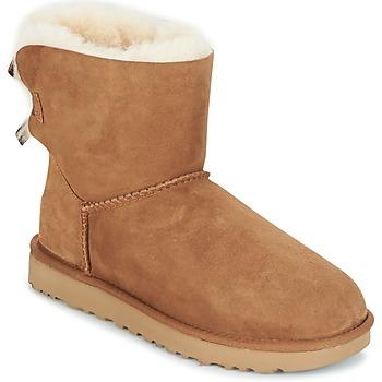 Topánky Ženy Polokozačky UGG MINI BAILEY BOW II Ťavia hnedá
