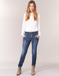 Oblečenie Ženy Rovné džínsy Cream NYNNE JEANS BAILEY FIT Modrá