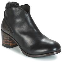 Topánky Ženy Polokozačky Moma CUSNA NERO/ TALON TACO MIX, ARRIRE AFRICA Čierna / Strieborná