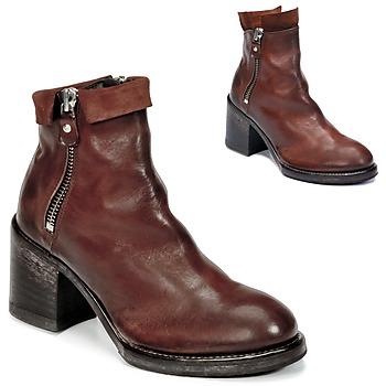Topánky Ženy Čižmičky Moma CUSNA COPPER Hnedá