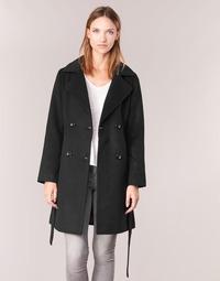 Oblečenie Ženy Kabáty Casual Attitude HALLOA Čierna
