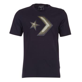 Oblečenie Muži Tričká s krátkym rukávom Converse DIMENSIONAL LAYER STAR CHEVRON TEE Čierna