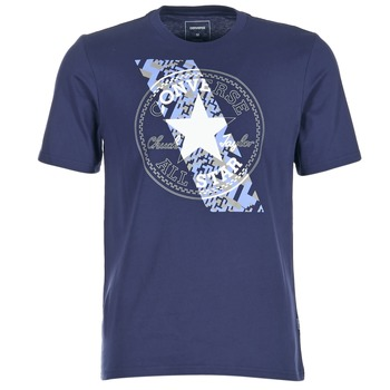 Oblečenie Muži Tričká s krátkym rukávom Converse CHUCKPATCH CONTRAST SLASH TEE Námornícka modrá