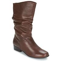 Topánky Ženy Čižmy do mesta Spot on LAVAS Ťavia hnedá
