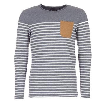 Oblečenie Muži Tričká s dlhým rukávom Le Temps des Cerises VINCENT šedá