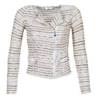Oblečenie Ženy Saká a blejzre Le Temps des Cerises MIRABEAU Béžová / Biela