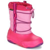 Topánky Dievčatá Snehule  Crocs Swiftwater waterproof boot Party / Ružová