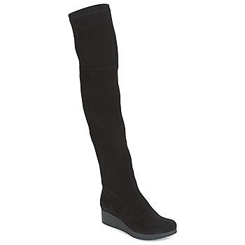 Topánky Ženy Vysoké čižmy Robert Clergerie Natun-VELOURS-STRETCH-NOIR čierna