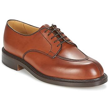 Topánky Muži Derbie Barker PARIS Ružová