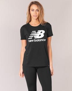 Oblečenie Ženy Tričká s krátkym rukávom New Balance NB LOGO T Čierna / Biela