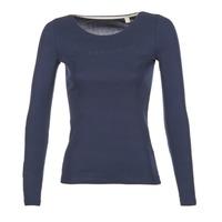 Oblečenie Ženy Tričká s dlhým rukávom Esprit GIMUL Námornícka modrá