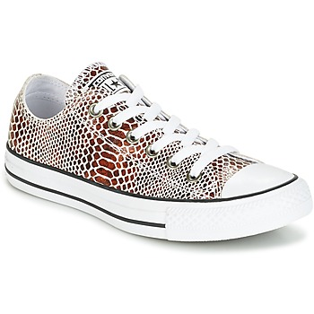 Topánky Ženy Nízke tenisky Converse CHUCK TAYLOR ALL STAR FASHION SNAKE OX BROWN/BLACK/WHITE čierna / Biela
