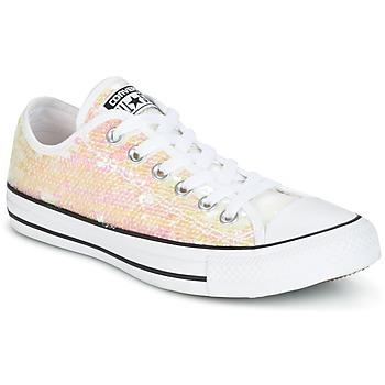 Topánky Ženy Nízke tenisky Converse CHUCK TAYLOR ALL STAR SEQUINS OX WHITE/BLACK/WHITE Biela / Trblietkavá