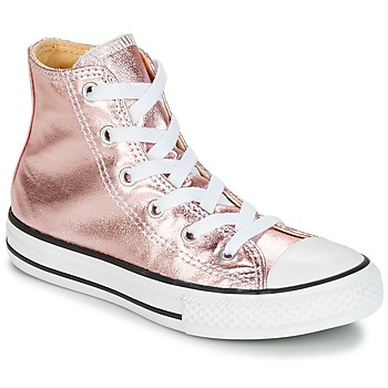 Topánky Dievčatá Členkové tenisky Converse CHUCK TAYLOR ALL STAR METALLIC SEASONAL HI METALLIC SEASONAL HI Ružová / Biela / čierna