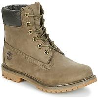 Topánky Ženy Polokozačky Timberland 6IN PREMIUM BOOT - W Canteen / Antilopia hnedá / Hnedá