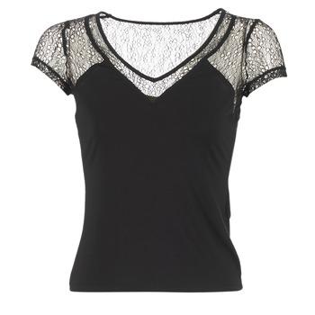 Oblečenie Ženy Tričká s krátkym rukávom Morgan DSTAF čierna