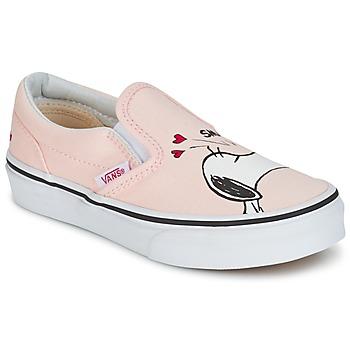 Topánky Dievčatá Slip-on Vans TD CLASSIC SLIP-ON SNOOPY Ružová