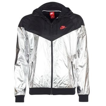 Oblečenie Muži Vetrovky a bundy Windstopper Nike WINDRUNNER METALLIC čierna / Strieborná