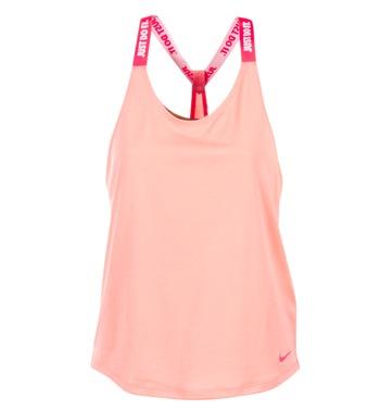 Oblečenie Ženy Tielka a tričká bez rukávov Nike NIKE DRY TANK ELASTIKA Ružová / červená