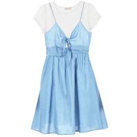 Oblečenie Ženy Krátke šaty Moony Mood GLAM Modrá