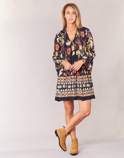Oblečenie Ženy Krátke šaty Derhy DEGUSTATION Čierna / Viacfarebná
