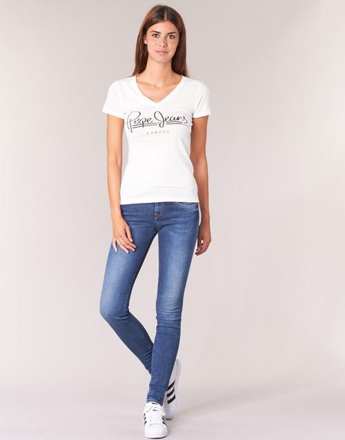 Oblečenie Ženy Rifle Skinny  Pepe jeans SOHO Z63 / Modrá / Medium