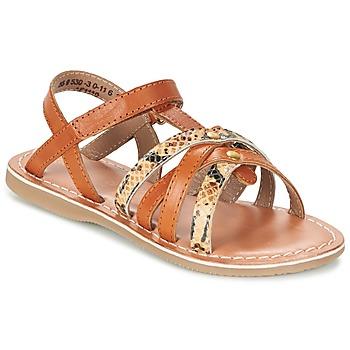 Topánky Dievčatá Sandále Kickers FARAH ťavia hnedá