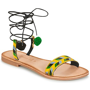 Topánky Ženy Sandále Lola Espeleta EDWINA Zelená / Žltá / Čierna