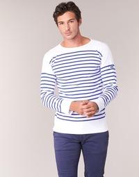 Oblečenie Muži Tričká s dlhým rukávom Armor Lux DISJON Biela / Modrá