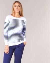 Oblečenie Ženy Tričká s dlhým rukávom Armor Lux ROADY Biela / Modrá