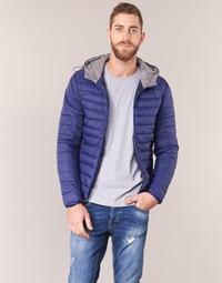 Oblečenie Muži Vyteplené bundy Yurban IHOUZOU Námornícka modrá