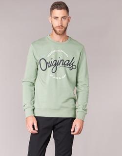Oblečenie Muži Mikiny Jack & Jones SWEEP ORIGINALS Zelená