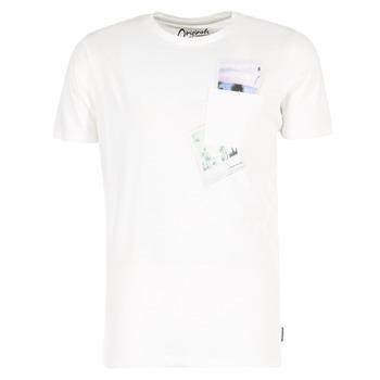 Oblečenie Muži Tričká s krátkym rukávom Jack & Jones CHECK ORIGINALS Biela