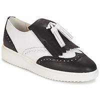 Topánky Ženy Mokasíny Geox D THYMAR C - NAPPA Biela / čierna