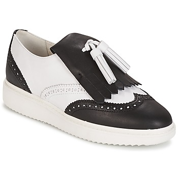 9d8b4e471a10 Topánky Ženy Mokasíny Geox D THYMAR C - NAPPA Biela   Čierna