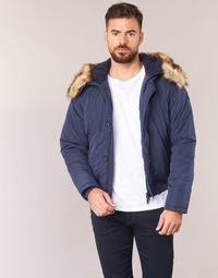 Oblečenie Muži Vyteplené bundy Armani jeans GNAN Námornícka modrá