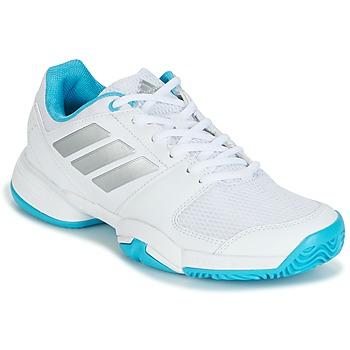 Topánky Bežecká a trailová obuv adidas Performance Barricade Club xJ Biela / Modrá