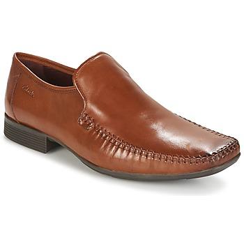 Topánky Muži Mokasíny Clarks Ferro Step Svetlá hnedá / Leather