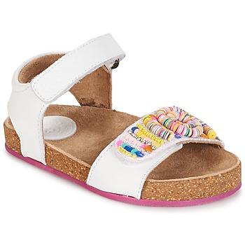 Topánky Dievčatá Sandále Kickers NAISSA Biela