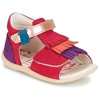 Topánky Dievčatá Sandále Kickers BIHILANA Fuksiová / Oranžová / Fialová