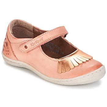 Topánky Dievčatá Balerínky a babies Kickers CALYPSO Koralová