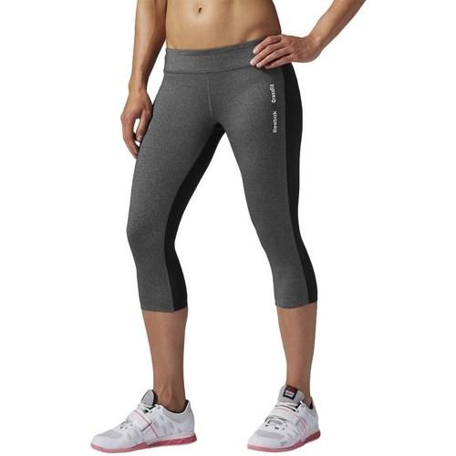 Oblečenie Ženy Legíny Reebok Sport Rcf Chase Capri Grafit